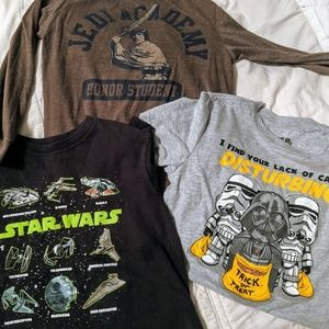 3 Youth Star Wars T-shirts